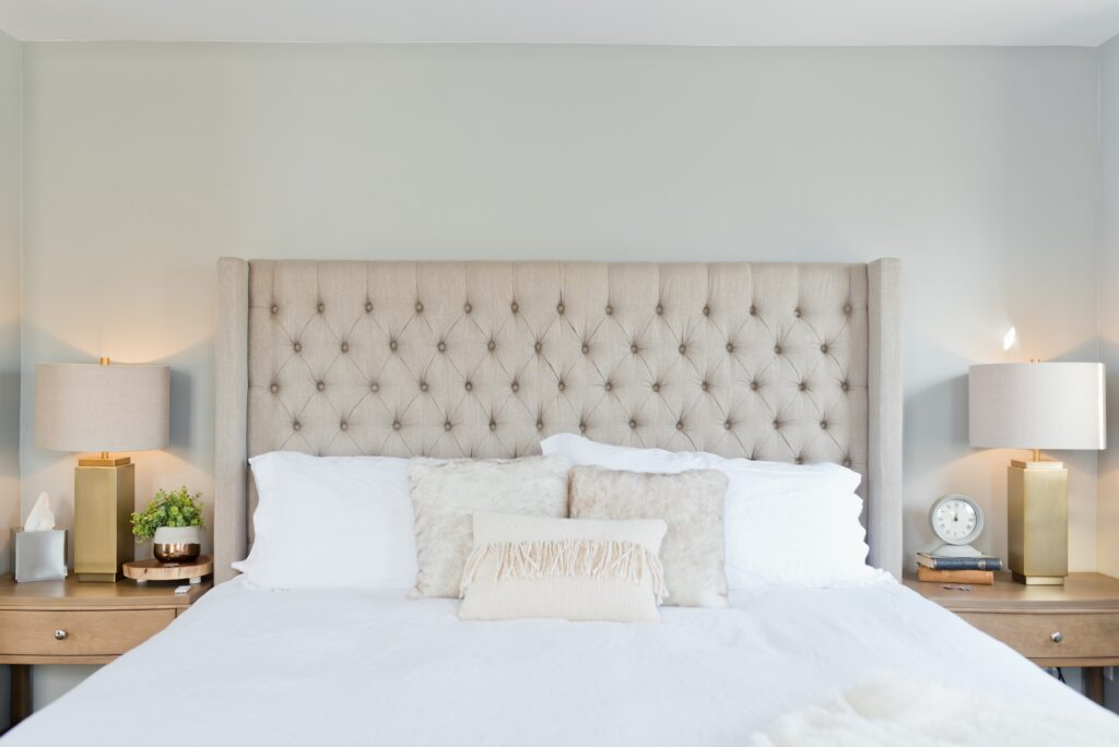 white bed linen with white pillows