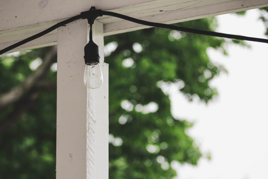 white string light during daytime