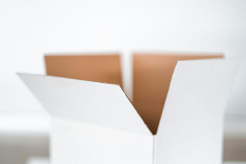 closeup photo of white box
