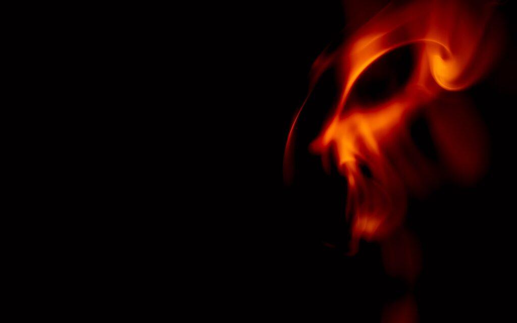 womans face in dark room
